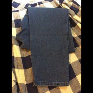 NWOT Avenue Blues Indigo Denim Leggings Jeans 16P
